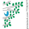 小鳥 樹木 樹 77282977