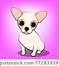 Cute Cartoon Vector Illustration of a Chihuahua  puppy dog 77283939