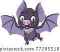 Cartoon bat flying isolated on white background 77285518
