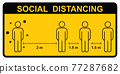 Social distancing. Keep the 1-2 meter distance. Coronovirus epidemic protective. Vector illustration 77287682