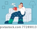 Flu, infection, getting cold concept 77289013