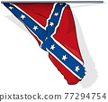Flag of Confederate States Army in USA 77294754