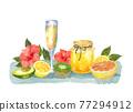 水彩畫 水彩 水果 77294912