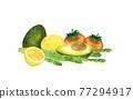 水果 水彩畫 蔬菜 77294917