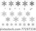 雪花 畫線 積雪 77297338