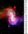 galaxy in a free space. 3D rendering 77297736
