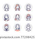 女生 女孩 女性 77298425
