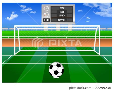 축구 경기장 77299236