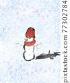 雪人 積雪 下雪 77302784