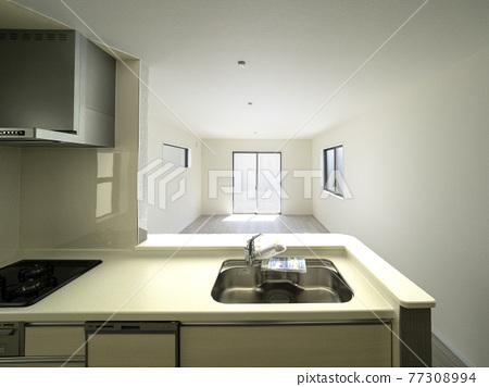 漂亮的新廚房用餐 77308994