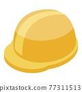 Protection yellow helmet icon, isometric style 77311513