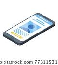 Smartphone icon, isometric style 77311531