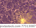 Abstract textured Dark brown polygonal background. low poly geometric consisting of triangles of different sizes and colors. use in design cover, presentation, business card or website. 77313087