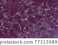 Abstract textured Dark brown polygonal background. low poly geometric consisting of triangles of different sizes and colors. use in design cover, presentation, business card or website. 77313089