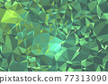 Abstract textured Green polygonal background. low poly geometric consisting of triangles of different sizes and colors. use in design cover, presentation, business card or website. 77313090