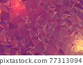 Abstract textured Pink polygonal background. low poly geometric consisting of triangles of different sizes and colors. use in design cover, presentation, business card or website. 77313094