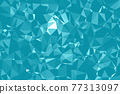Abstract textured Blue polygonal background. low poly geometric consisting of triangles of different sizes and colors. use in design cover, presentation, business card or website. 77313097