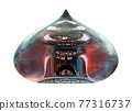 Fused Glass Decorative Ornament. Islamic Architecture Detail 77316737