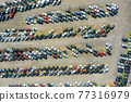 Rows a many used cars parking auction dealer lot 77316979