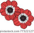 anemone, windflower, vector 77322127