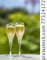 香檳 香檳杯 含汽葡萄酒 77324172