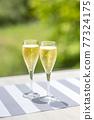 香檳 香檳杯 含汽葡萄酒 77324175