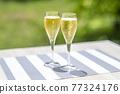 香檳 香檳杯 含汽葡萄酒 77324176