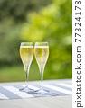 香檳 香檳杯 含汽葡萄酒 77324178