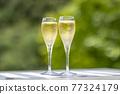 香檳 香檳杯 含汽葡萄酒 77324179