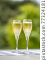 香檳 香檳杯 含汽葡萄酒 77324181