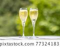 香檳 香檳杯 含汽葡萄酒 77324183