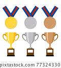 金牌 獎章 矢量 77324330