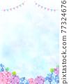 雨季 梅雨 繡球花 77324676