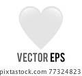 Vector classic love white glossy heart icon, used for expressions of love passion and romance 77324823