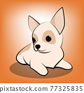Cute Cartoon Vector Illustration of a Chihuahua  puppy dog 77325835