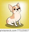 Cute Cartoon Vector Illustration of a Chihuahua  puppy dog 77325837