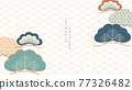 Japanese background with bonsai pattern vector. Natural decoration banner with geometric line in vintage style. 77326482