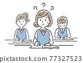 벡터 일러스트 소재 : 수업 내용을 이해할 수없는 여학생 77327523