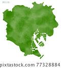 東京 地圖 矢量 77328884