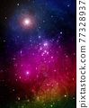 galaxy in a free space. 3D rendering 77328937