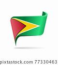 Guyanan flag map pointer layout. Vector illustration. 77330463