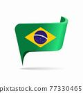 Brazilian flag map pointer layout. Vector illustration. 77330465