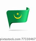 Mauritanian flag map pointer layout. Vector illustration. 77330467
