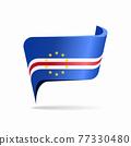 Cape Verde flag map pointer layout. Vector illustration. 77330480