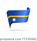 Nauru flag map pointer layout. Vector illustration. 77330482