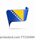 Bosnia Herzegovinan flag map pointer layout. Vector illustration. 77330484