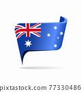 Australian flag map pointer layout. Vector illustration. 77330486