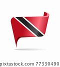 Trinidad and Tobago flag map pointer layout. Vector illustration. 77330490