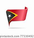 Timor-Leste flag map pointer layout. Vector illustration. 77330492