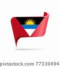 Antigua and Barbuda flag map pointer layout. Vector illustration. 77330494